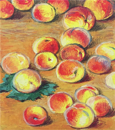 散落的桃子怎么画?教你画莫奈的21个桃子
