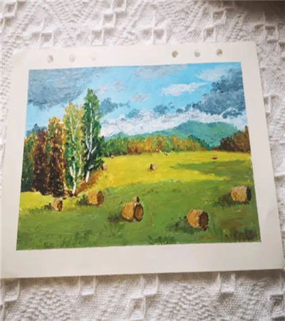 田里的草垛怎么画?秋天田野景色油画教程是什么?