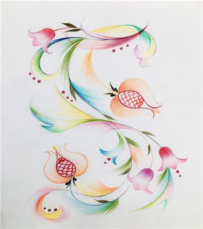 抽象派石榴怎么画?如何画小插画?
