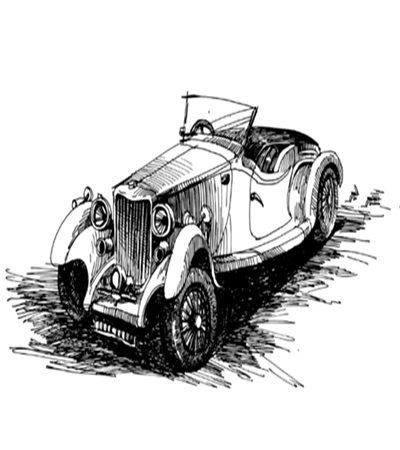 复古老爷车怎么画?如何画出经典轿车?