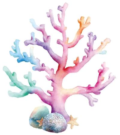 珊瑚怎么画?如何直接在纸上调色?