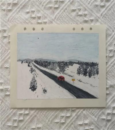 雪乡景色怎么画?茫茫雪景的油画画法是什么?