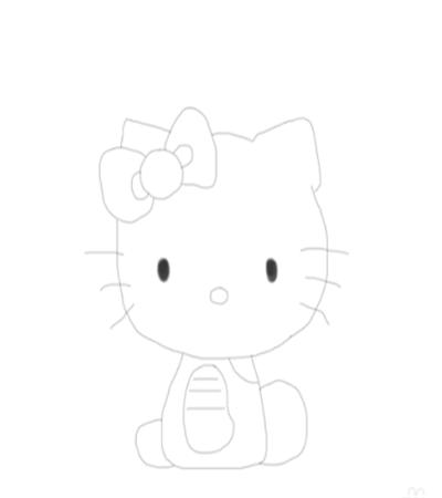 可爱的小猫咪怎么画?如何画戴蝴蝶结的小猫?