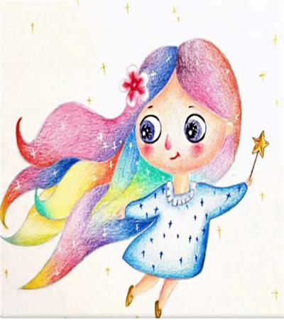 彩虹仙子怎么画?有哪些插画步骤?