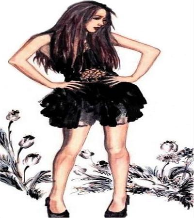 时尚女孩怎么画?简单的国画教程是什么?