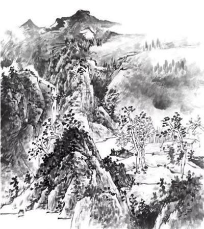 深山景色怎么画?具体的国画画法是什么?