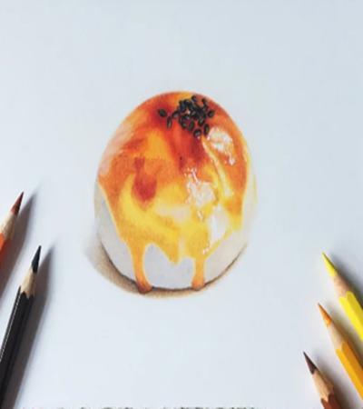 蛋黄酥怎么画?详细的绘画步骤有几步?