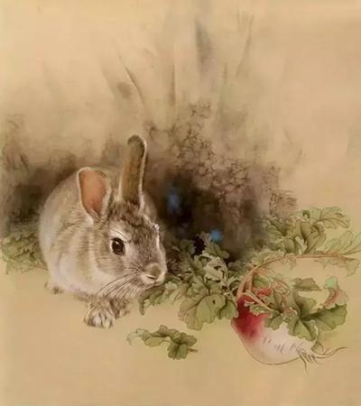毛茸茸的兔子怎么画?有哪些工笔绘画步骤?