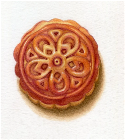 中秋月饼怎么画?彩铅绘画步骤有哪些?