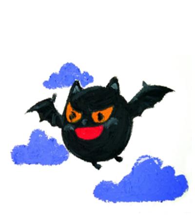 黑蝙蝠和南瓜灯怎么画?详细的步骤有哪些?