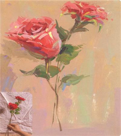 水粉玫瑰怎么画?调色步骤是什么?