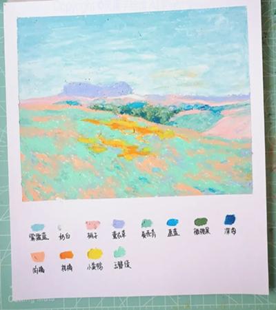 一望无际的山野怎么画?印象派风景的画法是什么?