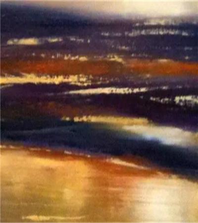 日落风景怎么画?夕阳景色的油画步骤有哪些?