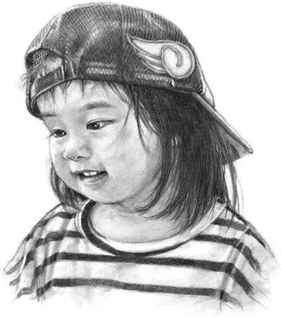 戴帽子的小女孩怎么画?小女孩素描步骤有几步?