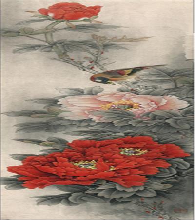 牡丹和相思鸟怎么画?状元红的详细工笔画步骤有哪些?