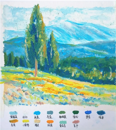 山峦风景怎么画?详细的图文步骤有哪些?