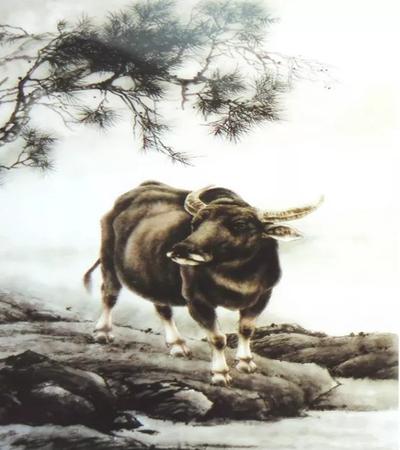 悠闲的牛怎么画?牛散步的工笔步骤图有哪些?