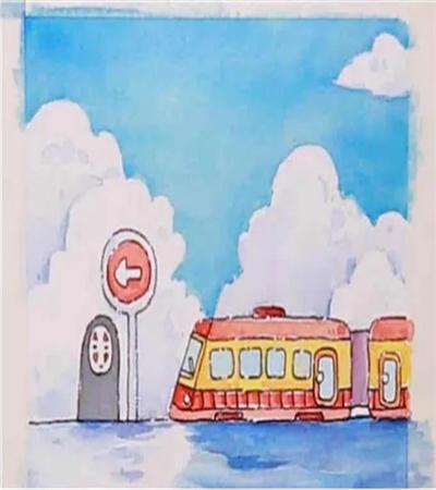 无脸男和列车怎么画?宫崎骏漫画人物水彩步骤有哪些?
