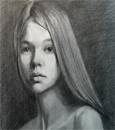 长发美女怎么画?简单的素描画法是什么?