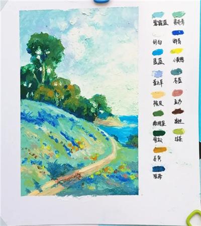 自然风景怎么画?山水风景油画步骤有哪些?