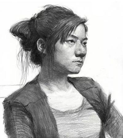 女青年头像怎么画?简单的头像素描画法是什么?