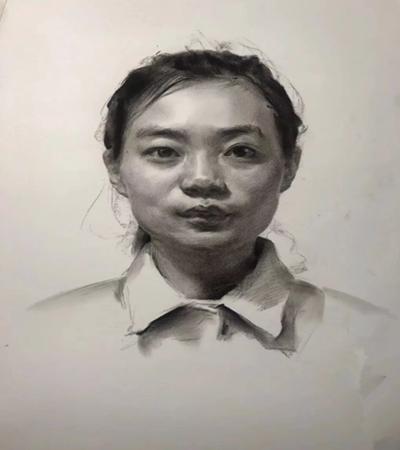 女青年素描头像怎么画?正面女青年绘画步骤有哪些?