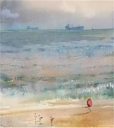 海面水彩作品欣赏,如何画的色彩鲜明?