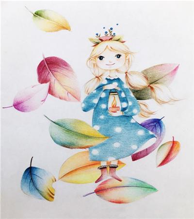 叶子精灵怎么画?秋叶精灵的插画步骤有几步?