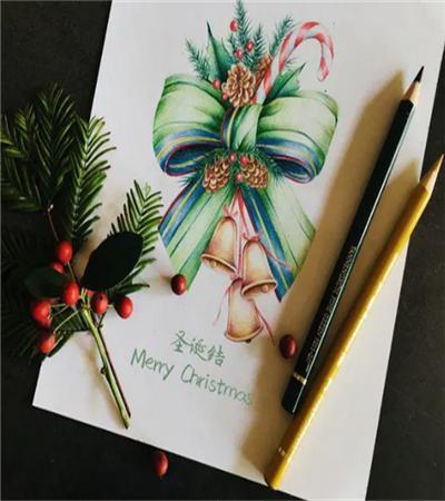 圣诞结插画怎么画?圣诞主题的画法是什么?