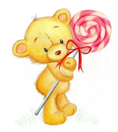 卡通小熊怎么画?玩具小熊的涂色过程是什么?