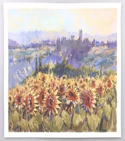 向日葵怎么画?风景丙烯画教程是什么?