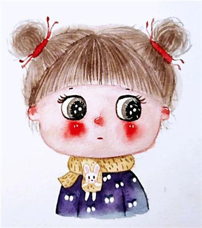 可爱的头像怎么画?胖女孩的漫画画法是什么?