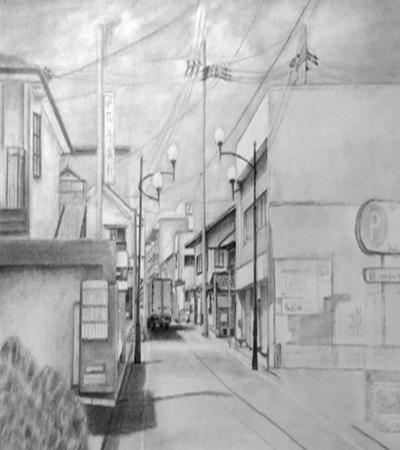 街道一角怎么画?素描街道的步骤有几步?