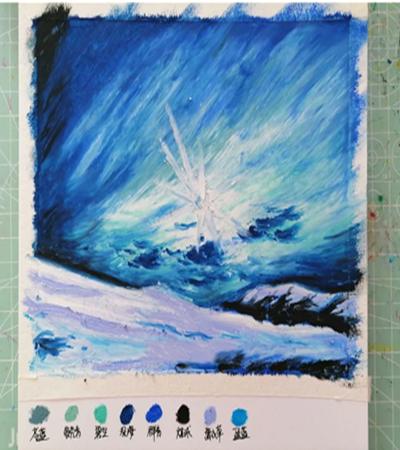 极地天空怎么画?天空油画教程是什么?