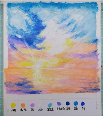 海天一色怎么画?简单的油画画法是什么?