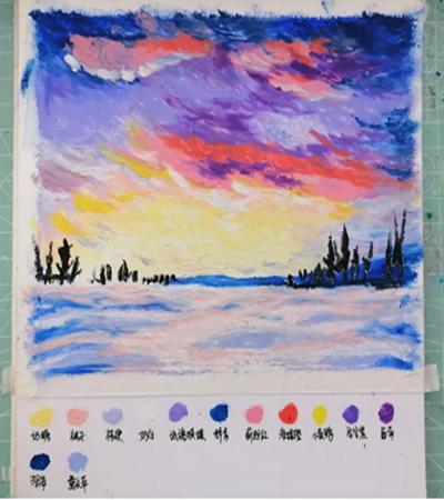 雪地天空怎么画?有哪些绘画步骤?