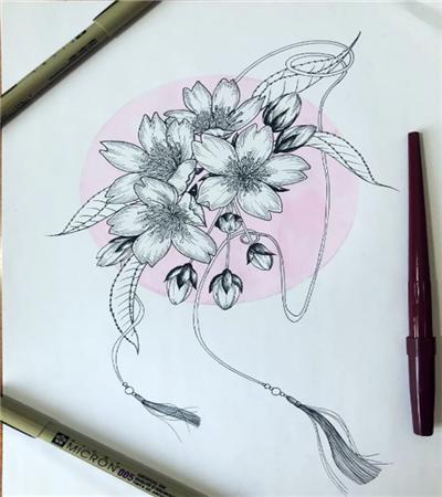 古风樱花怎么画?樱花的简单画法是什么?