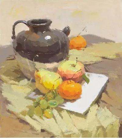 黄色调水粉静物怎么画?绘画步骤有哪些?