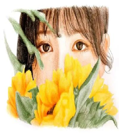 向日葵少女怎么画?具体的彩铅步骤有哪些?