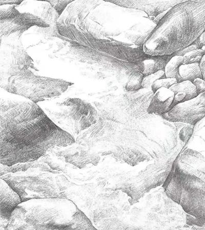 山涧溪流怎么画?绘画思路是什么?
