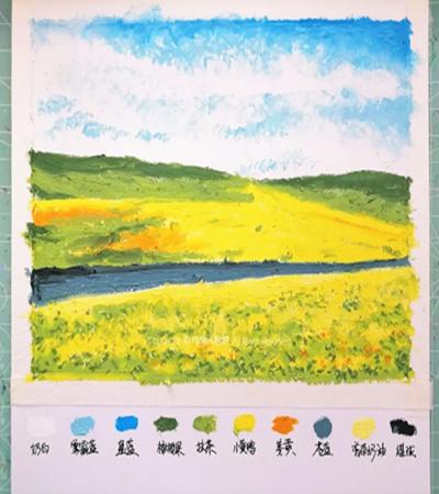 油菜花怎么画?具体有哪些油画步骤?