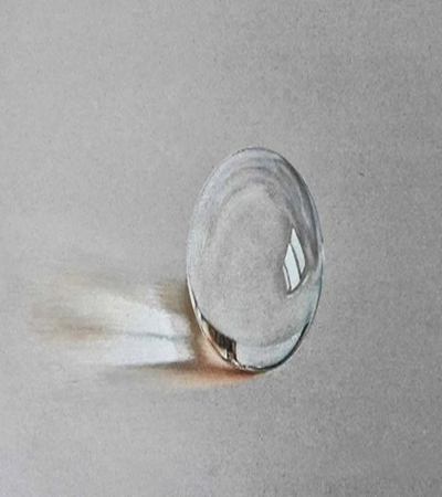 玻璃弹珠怎么画?如何画写实彩铅画?