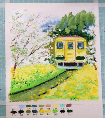 小火车怎么画?如何画出春天的感觉?