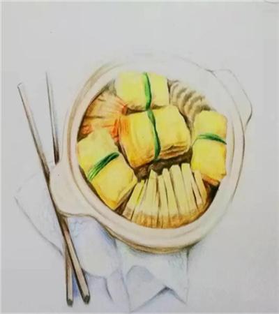 豆腐杂锅怎么画?有哪些绘画步骤?