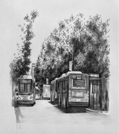公交车怎么画?有哪些绘画步骤?