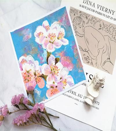 灿烂樱花怎么画?简单的油画画法是什么?