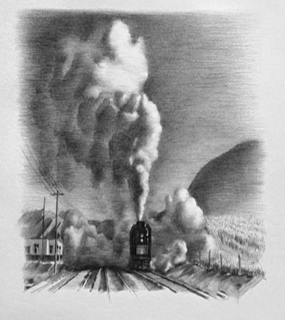 火车启动怎么画?如何表现烟雾的特性?