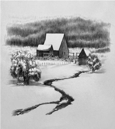 雪村怎么画?简单的素描画法是什么?