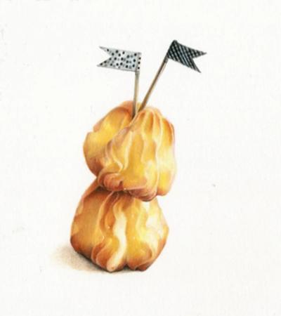 海盐泡芙怎么画?有哪些绘画步骤?