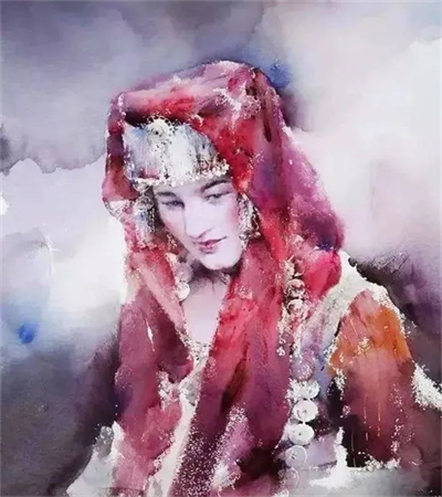 一组女性作品欣赏,教你如何画唯美的民族风情